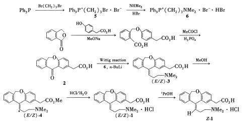盐酸奥洛他定的合成路线1