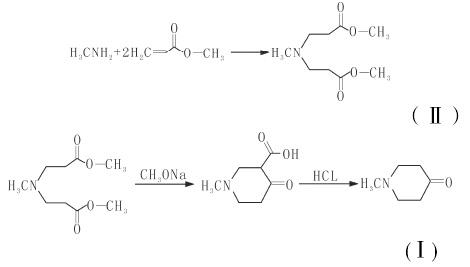 N-甲基-4-哌啶酮的合成路线