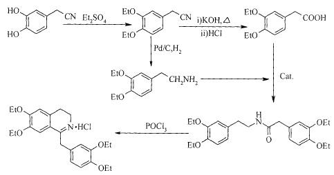 盐酸屈他维林的合成路线