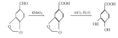 原儿茶酸的合成路线图