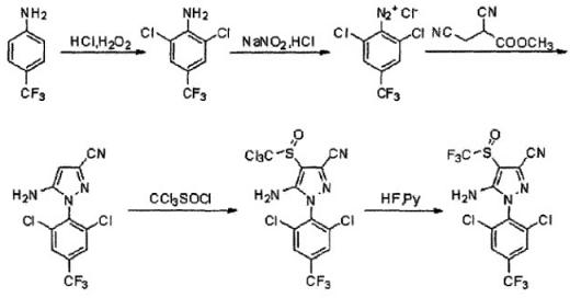氟虫腈的合成路线