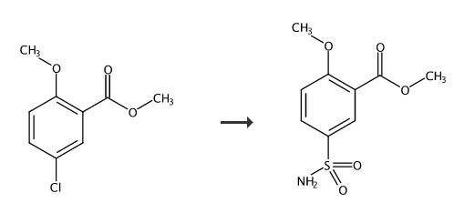 2-甲氧基-5-磺酰胺苯甲酸甲酯的合成路线