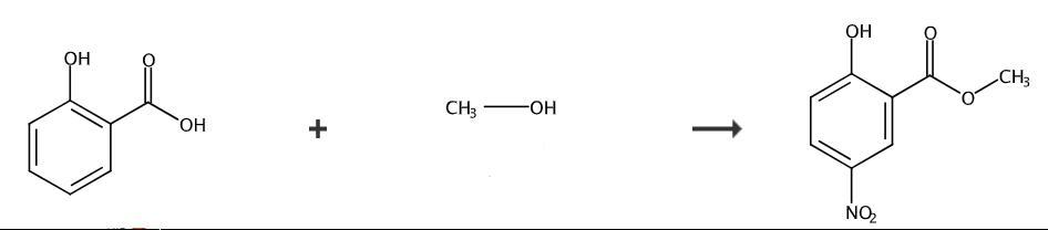 2-羟基-5-硝基苯甲酸甲酯的合成路线