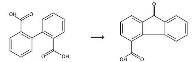 9-芴酮-4-甲酸的合成路线