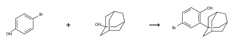 2-(1-金刚烷基)-4-溴苯酚的合成路线